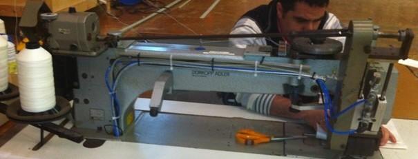 Sail Repairs Gibraltar, sewing comp